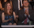 Chelsea Clinton and Marc Mezvinsky watching Bill Clinton's speech at 2016 DNC.png