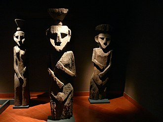 Chemamull - Wooden statues or chemamüll