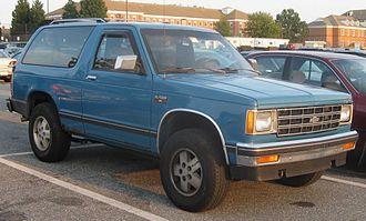 Chevrolet S-10 Blazer - 1983–1990 Chevrolet S-10 Blazer 2-door