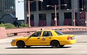Chicago yellow cab