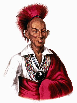 Black Hawk (Sauk leader) - An illustration of Black Hawk, from History of the Indian Tribes of North America