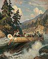 Chief Trader Archibald McDonald Descending the Fraser, 1828, by Adam Sherriff Scott, ca. 1942.jpg