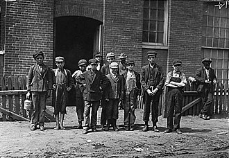 Fall River, Massachusetts - Group of workers in the Sagamore Mfg. Co., August 1911. Photographed by Lewis Hine.