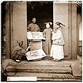 China; Manchu women buying flowers for their headdress Wellcome L0055921.jpg