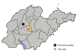 Location of Laiwu
