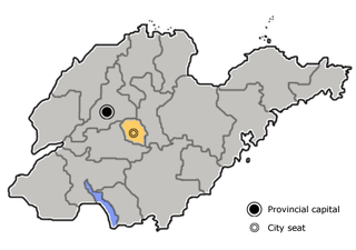 Laiwu former prefecture-level city in Shandong, China