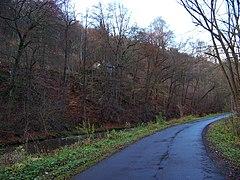 Chrastava-Andělská Hora, cesta podél Nisy a strážní domek čp. 98.jpg