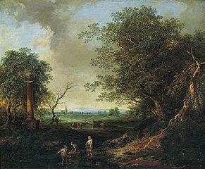 Landschaft mit Säule