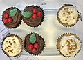 Christmas motifs decorated cupcakes in Australia 01.jpg