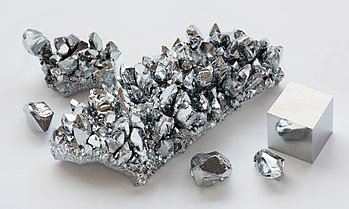 Chromium crystals and cube