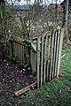 Churchyard gate to All Saints Church, Berners Roding, Essex, England 01.jpg