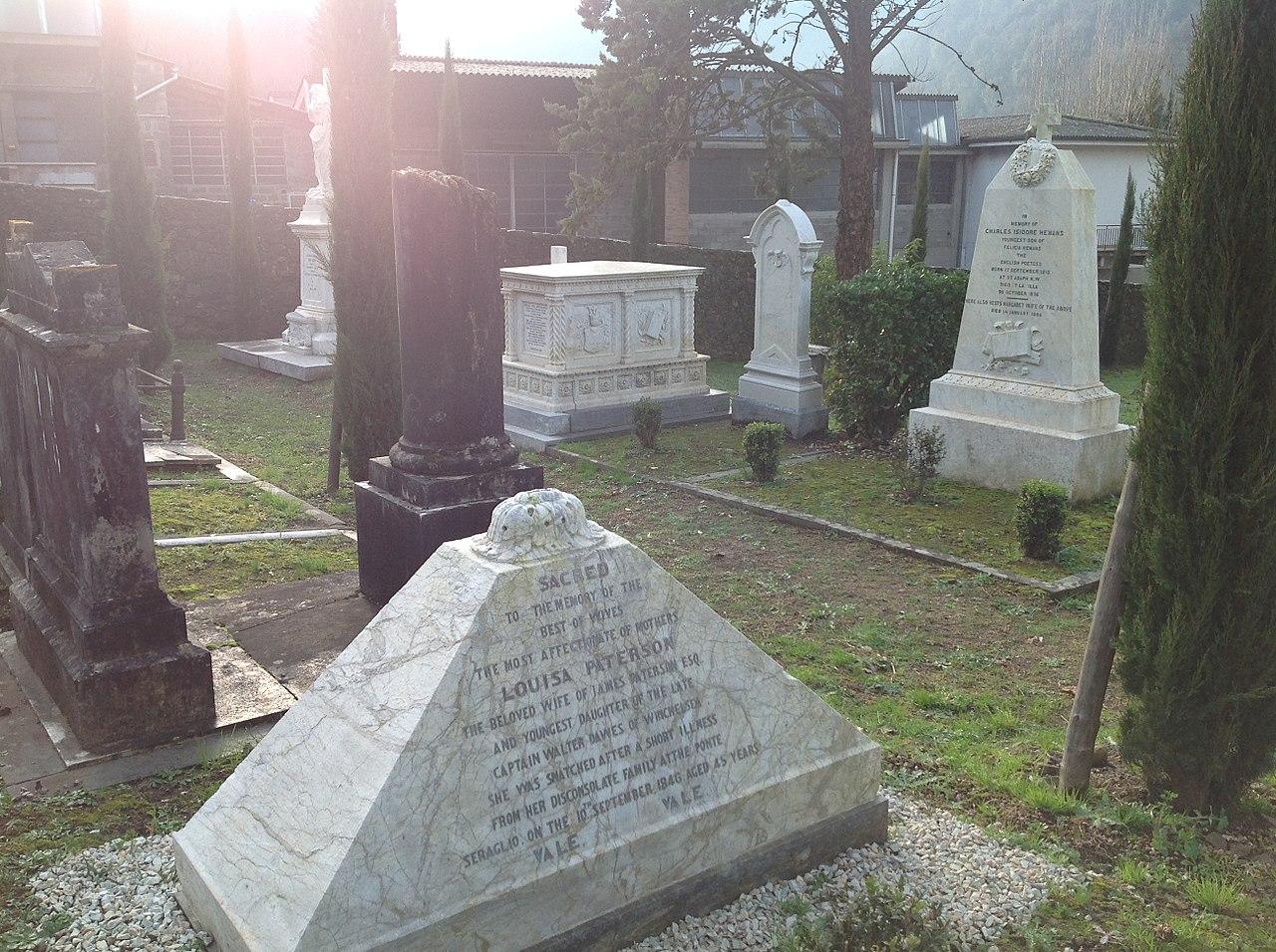 File cimitero inglese bagni di lucca louisa paterson - Bagno di lucca ...