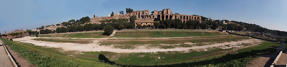 The Circus Maximus site and the Palatine Hill in background