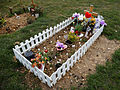 City of London Cemetery and Crematorium - temporary grave decorations 03.jpg