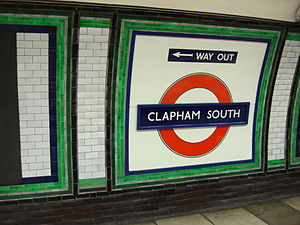 Clapham South tube station - Image: Clapham South tube roundel