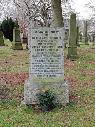 Kaisar-i-Hind Medal - Clara Anne Rendall (Mrs. Aeneas Francon Williams) grave at Dean Cemetery in Edinburgh