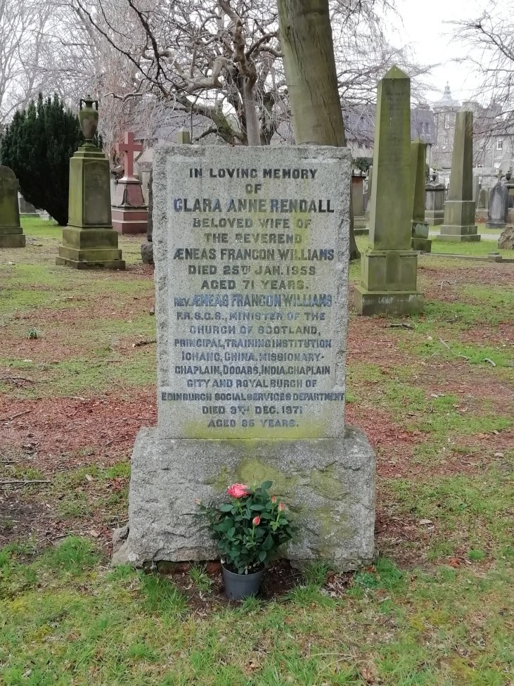 Clara Anne Rendall was awarded the Kaisar-i-Hind Medal for Public Service in India in 1946 - Clara and her husband Aeneas' grave at Dean Cemetery, Edinburgh