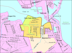 Clear Lake Shores, Texas - Map of Clear Lake Shores