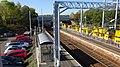 Cleland railway station, Shotts Line, North Lanarkshire - car park & view towards Glasgow.jpg