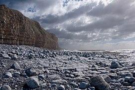 Cliff, rocks and sea - Llantwit Major (geograph 2067695).jpg