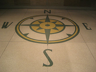 Pittsburgh International Airport - A replica of PIT's original terrazzo compass located in the new main terminal