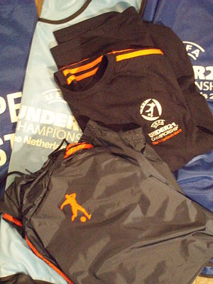 2007 UEFA European Under-21 Championship - Steward outfit displaying the logo of the UEFA European Under-21 Championship 2007
