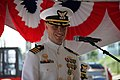 Cmdr. Timothy Brown departs Coast Guard Cutter Hollyhock 130614-G-ZZ999-004.jpg