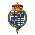 Coat of arms of Granville Leveson-Gower, Viscount Trentham, KG.png