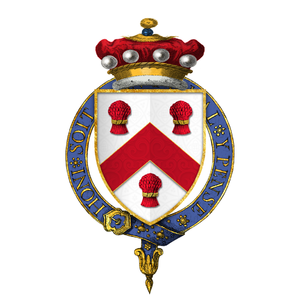Edmund Sheffield, 1st Earl of Mulgrave - Arms of Sir Edmund Sheffield, 3rd Baron Sheffield, KG
