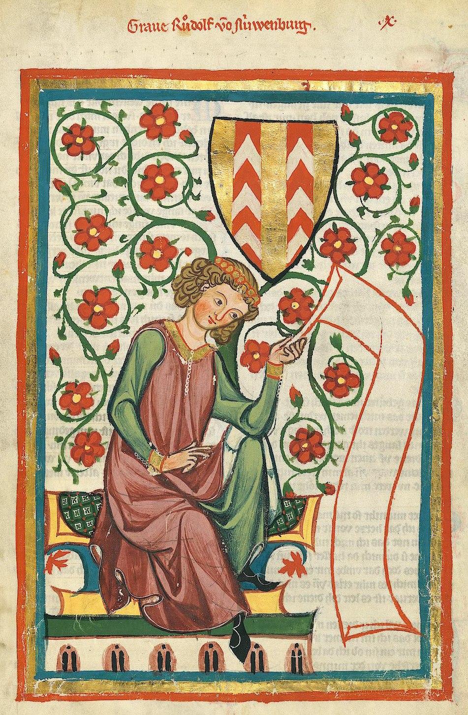 Codex Manesse Rudolf von Neuenburg