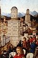 Collaboratore di Jan Van Eyck, crocifissione, 1436-1440 ca. (galleria franchetti) 07 torri.jpg