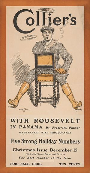 Frederick Palmer (journalist) - Collier's poster featuring Palmer's series of articles on Panama (1906)