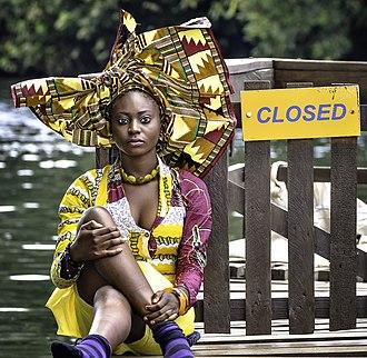 Head tie - A Ghanaian lady in Gele