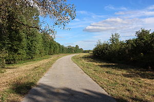 Columbia Bottom Conservation Area - Photo of a trail at Columbia Bottom