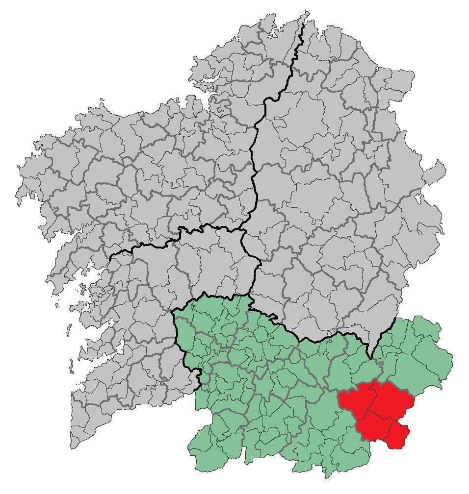 Kaart van comarca