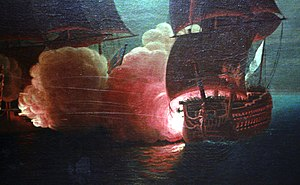 French ship Hercule (1778) - Image: Combat du Scipion conte le London Rossel de Cercy mg 5096