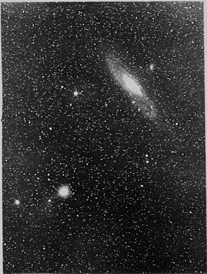Comet Holmes - 1892 November 10, near the Andromeda galaxy