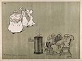 Comical scenes of some nurses carrying evening drinks and ot Wellcome V0015722.jpg