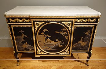 Commode By Martin Carlin With Japanese Lacquer Veneer (1773)