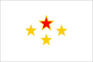 Communist insurgency in Myanmar - Image: Communist Party of Burma flag (1946 1969)