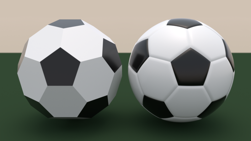 File:Comparison of truncated icosahedron and soccer ball.png