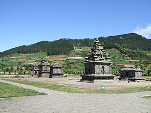 Dieng temples - Dieng temple compound, the Arjuna temple nearest.