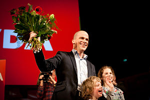 Diederik Samsom - Samsom after his victory in the leadership election