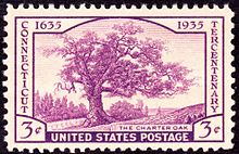 postage stamp with a tree on it