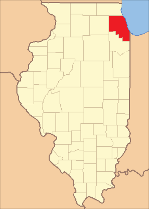 Cook County, Illinois - Image: Cook County Illinois 1836
