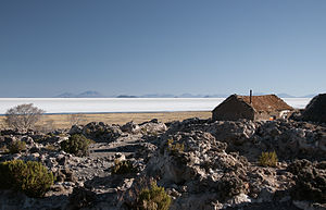 Tahua Municipality - The village of Coquesa and Salar de Uyuni in Tahua Municipality