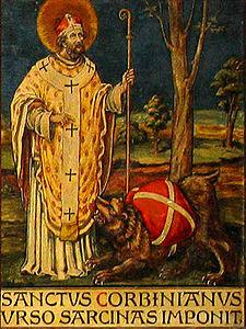 San Corbiniano e l'orso