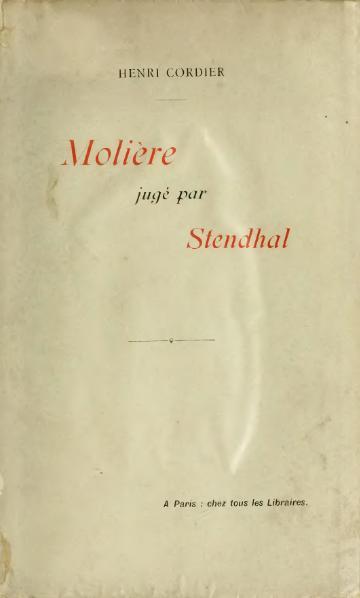 File:Cordier - Molière jugé par Stendhal, 1898.djvu