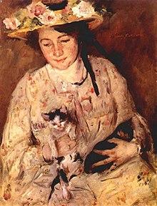 junge frau mit katzen 1904 lovis und charlotte corinth