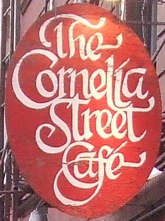 Cornelia Street Cafe - Image: Cornelia Street Cafe sign